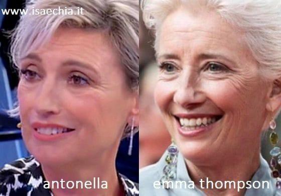 Somiglianza tra Antonella e Emma Thompson