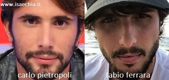 Somiglianza tra Carlo Pietropoli e Fabio Ferrara