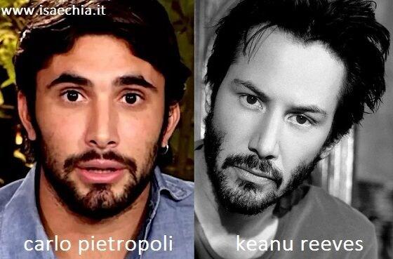 Somiglianza tra Carlo Pietropoli e Keanu Reeves