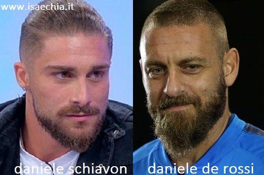 Somiglianza tra Daniele Schiavon e Daniele De Rossi
