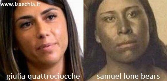 Somiglianza tra Giulia Quattrociocche e un pellerossa Lakota