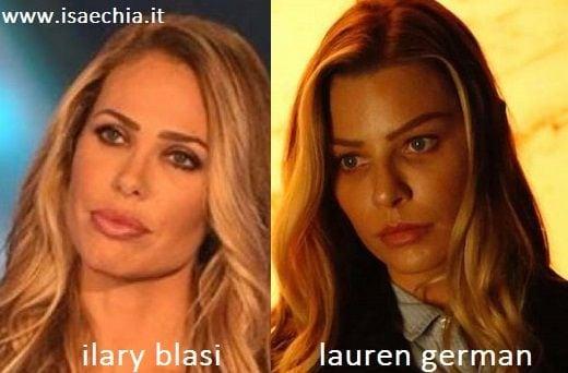 Somiglianza tra Ilary Blasi e Lauren German