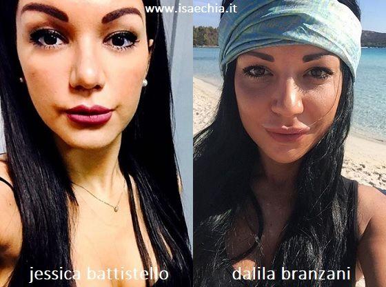 Somiglianza tra Jessica Battistello e Dalila Branzani