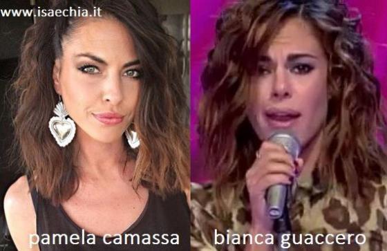 Somiglianza tra Pamela Camassa e Bianca Guaccero