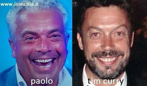 Somiglianza tra Paolo e Tim Curry
