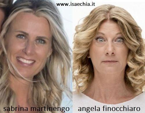 Somiglianza tra Sabrina Martinengo e Angela Finocchiaro