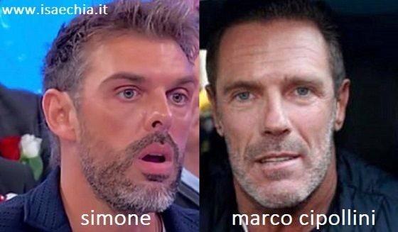 Somiglianza tra Simone e Marco Cipollini