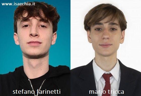 Somiglianza tra Stefano Farinetti di 'Amici 19' e Mario Tricca de 'Il Collegio 4'