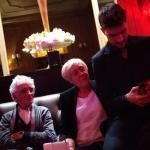 Andrea Zelletta con i nonni