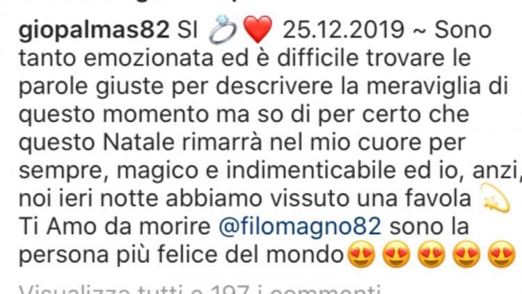 Giorgia Palmas ha detto sì, sposerà Filippo Magnini