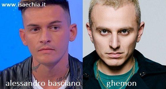Somiglianza tra Alessandro Basciano e Ghemon