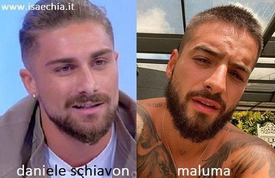 Somiglianza tra Daniele Schiavon e Maluma