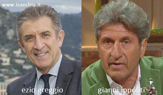 Somiglianza tra Ezio Greggio e Gianni Ippoliti