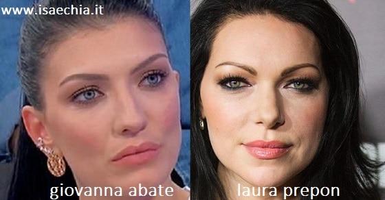 Somiglianza tra Giovanna Abate e Laura Prepon