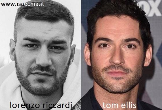 Somiglianza tra Lorenzo Riccardi e Tom Ellis