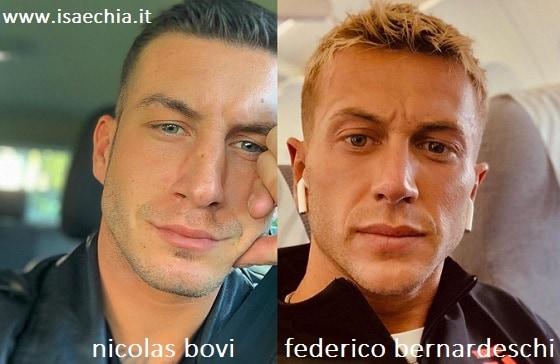 Somiglianza tra Nicolas Bovi e Federico Bernardeschi