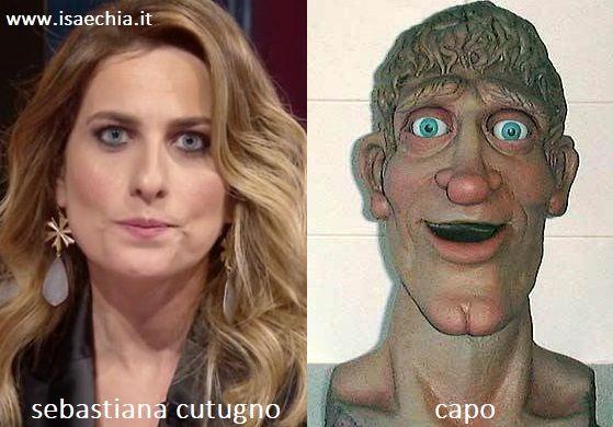 Somiglianza tra Sebastiana Cutugno di 'Quarto Grado' e Capo di 'Art Attack'
