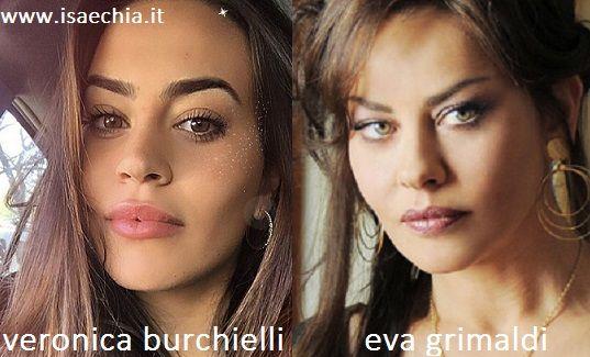 Somiglianza tra Veronica Burchielli e Eva Grimaldi