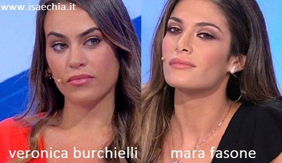 Somiglianza tra Veronica Burchielli e Mara Fasone