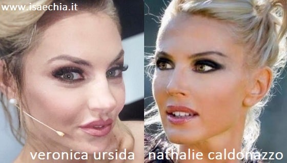 Somiglianza tra Veronica Ursida e Nathalie Caldonazzo