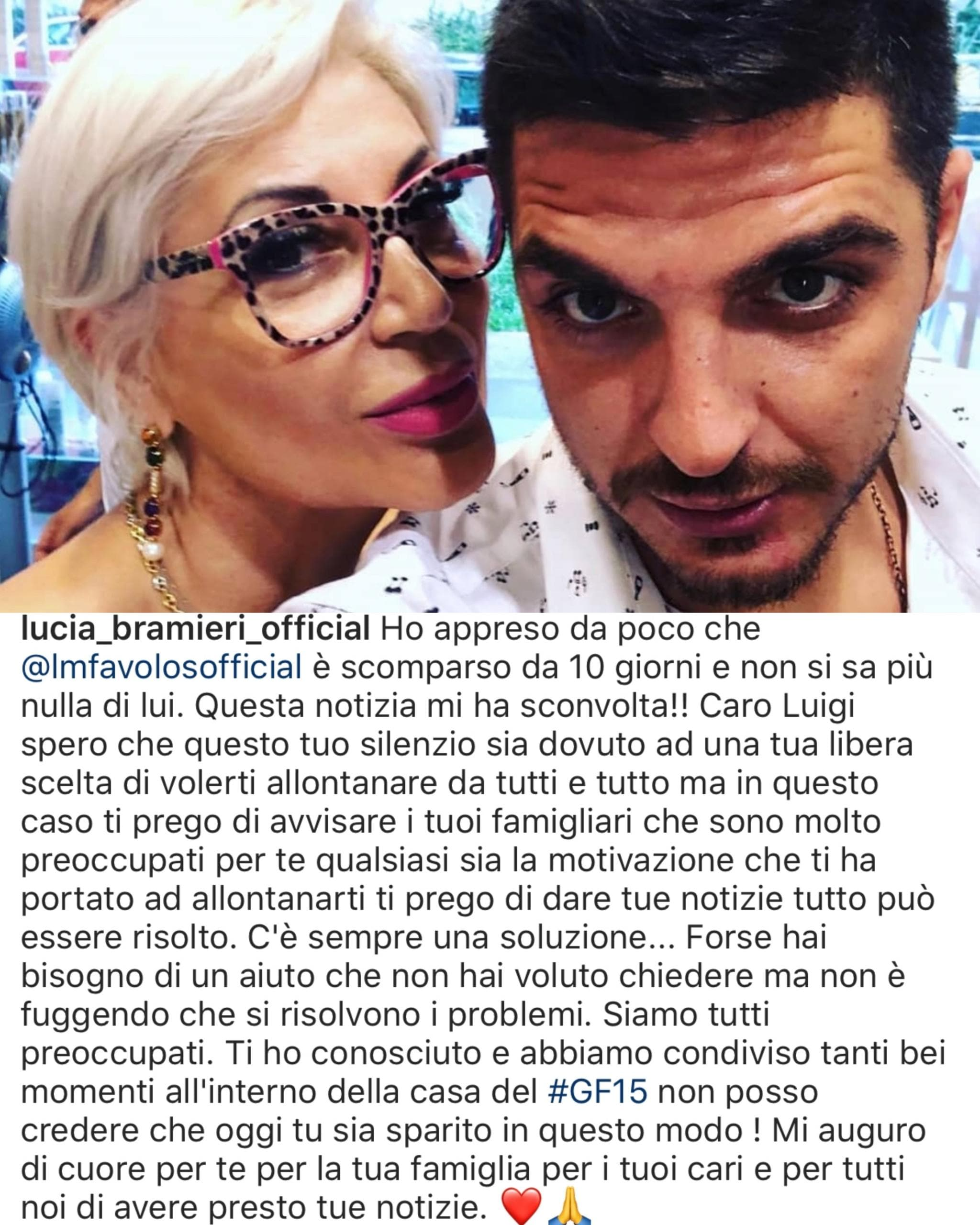 Scomparso Luigi Favoloso, ex di Nina Moric: l'appello sui social
