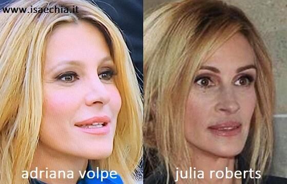 Somiglianza tra Adriana Volpe e Julia Roberts