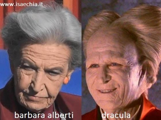 Somiglianza tra Barbara Alberti e Dracula