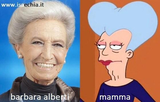 Somiglianza tra Barbara Alberti e Mamma