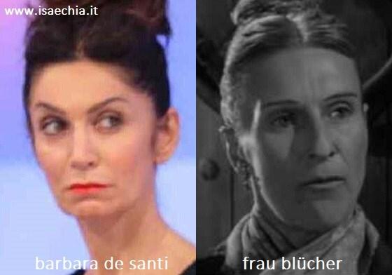Somiglianza tra Barbara De Santi e Frau Blücher di 'Frankenstein Junior'