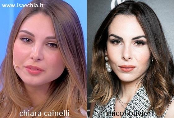 Somiglianza tra Chiara Cainelli e Micol Olivieri