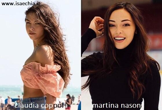 Somiglianza tra Claudia Coppola e Martina Nasoni