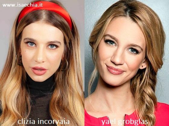 Somiglianza tra Clizia Incorvaia e Yael Grobglas