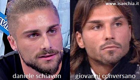 Somiglianza tra Daniele Schiavon e Giovanni Conversano