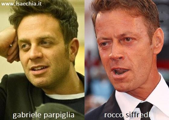 Somiglianza tra Gabriele Parpiglia e Rocco Siffredi