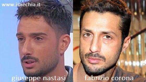 Somiglianza tra Giuseppe Nastasi e Fabrizio Corona