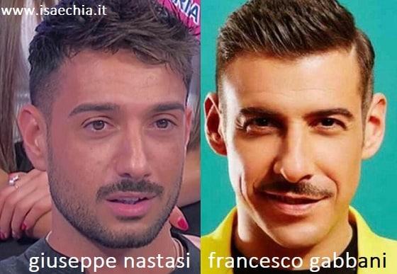 Somiglianza tra Giuseppe Nastasi e Francesco GabbaniSomiglianza tra Giuseppe Nastasi e Francesco Gabbani