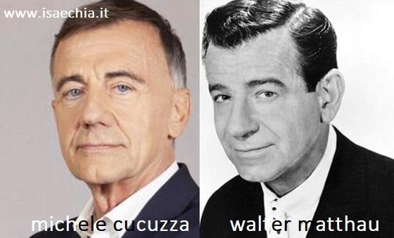 Somiglianza tra Michele Cucuzza e Walter Matthau