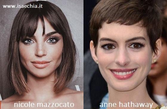 Somiglianza tra Nicole Mazzocato e Anne Hathaway