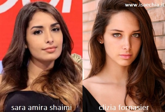 Somiglianza tra Sara Amira Shaimi e Clizia Fornasier