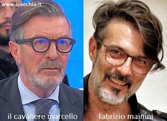 Somiglianza tra il cavaliere Marcello e Fabrizio Mainini