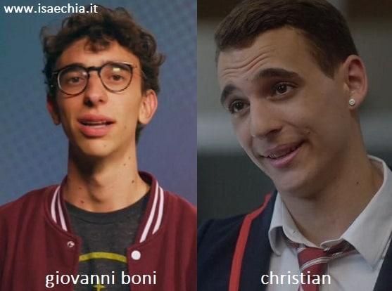 Somiglianza tra il secchione Giovanni Boni e Christian di 'Élite'