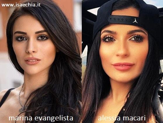 Somiglianza tra la pupa Marina Evangelista e Alessia Macari