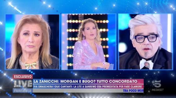 'Live – Non è la D'Urso', Morgan si confronta con una scettica Iva Zanicchi e poi si sottopone alla macchina ...