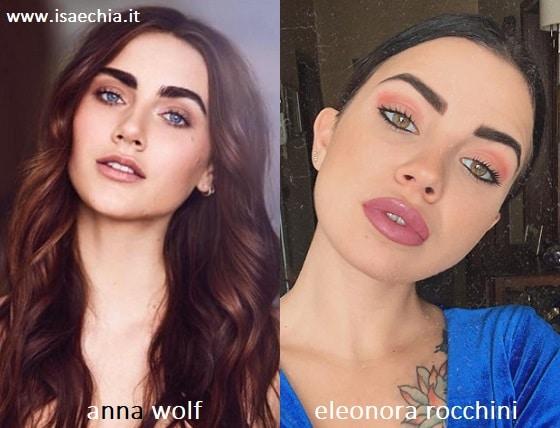 Somiglianza tra Anna Wolf e Eleonora Rocchini