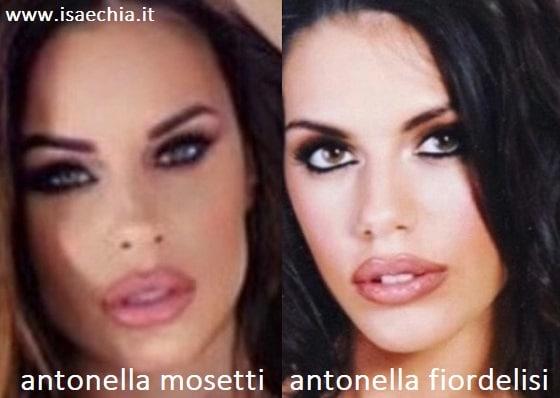Somiglianza tra Antonella Mosetti e Antonella Fiordelisi