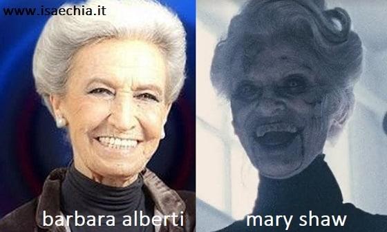 Somiglianza tra Barbara Alberti e Mary Shaw