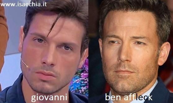 Somiglianza tra Giovanni e Ben Affleck