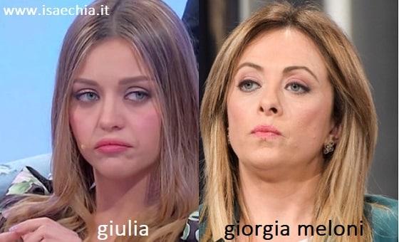 Somiglianza tra Giulia e Giorgia Meloni