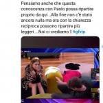 Twitter - Grande Fratello Vip, Clizia e Paolo