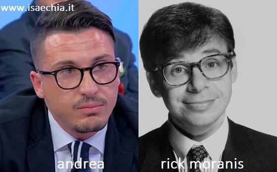 Somiglianza tra Andrea e Rick Moranis